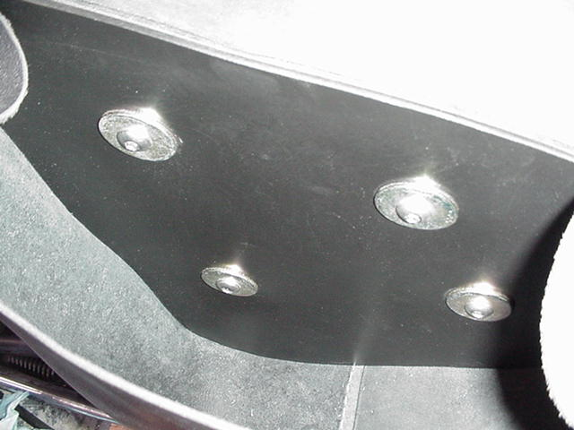 This is a shot INSIDE the saddle bag/ side cover  To stiffen